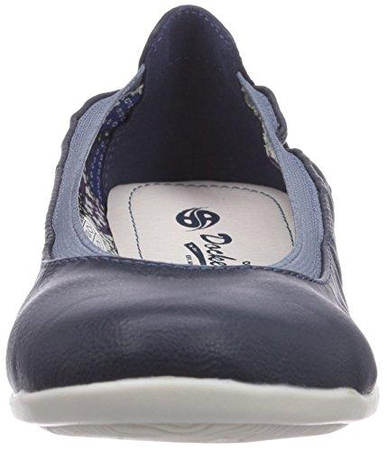Dockers by Gerli 34FU201-620670, Chaussures de sports extérieurs femme Bleu (Dunkelblau 670)