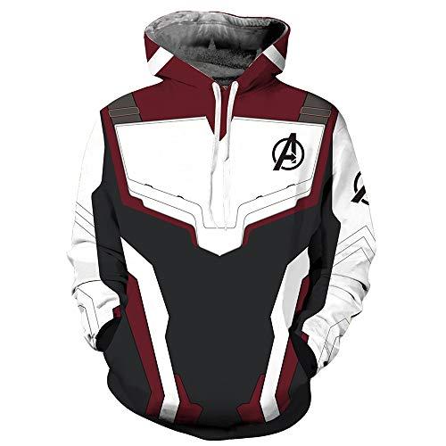 GBRALX Avengers League Herren 3D Druck Sweatshirt Outdoor Wanderweg Jacken Party Halloween Casual Film Cosplay Sweatshirts,A-M