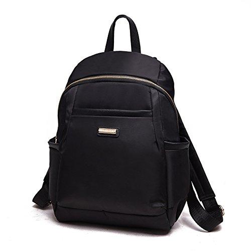 Mefly Frühling Sommer Neue Wasserdichte Multi Tasche Rucksack Bag black