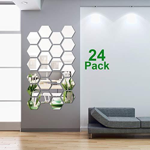 24 Pieces Removable Acrylic Mirr...