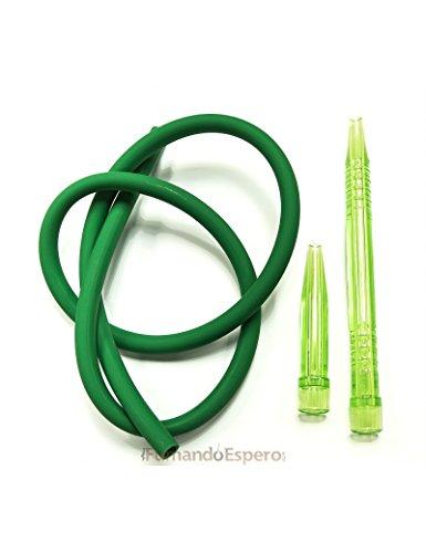 Manguera Walden de Silicona (1,5 m) + Boquilla para Shisha - Cachimba - Color: Verde