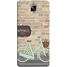 Fuson Designer Back Case Cover for One Plus 3T (Wall Blocks Bars Bricks Squares Key to Happiness)
