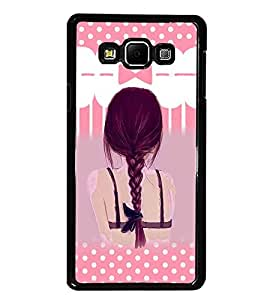 PrintDhaba Girl Image D-3554 Back Case Cover for SAMSUNG GALAXY A8 (Multi-Coloured)