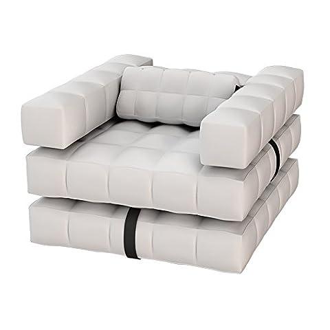 Pigro Felice Modul'Air Luxury Inflatable Sessel Set, matte weiß, 117 x 117 x 72 cm, 921985-MWHITE