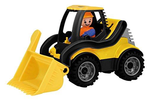 Lena 01622 - Truckies Schaufellader, stabiles Baustellen Fahrzeug ca. 22 cm, kleines Spielfahrzeug Radlader für Kinder ab 2 Jahre, robuster Spielzeug Lader für Sandkasten, Strand und Kinderzimmer