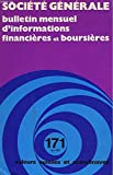 SOCIETE GENERALE, BULLETIN MENSUEL D'INFORMATION FINANCIERES ET BOURSIERES N°171, AVRIL 1976. VALEURS SUISSES ET SCANDINAVES....