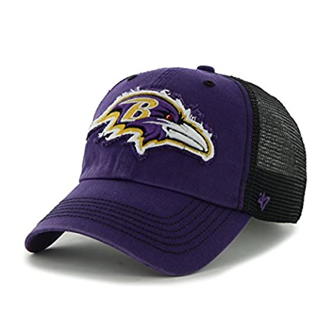 NFL Baltimore Ravens '47 Brand Taylor Closer Stretch Fit Hat, Purple, One Size Stretch