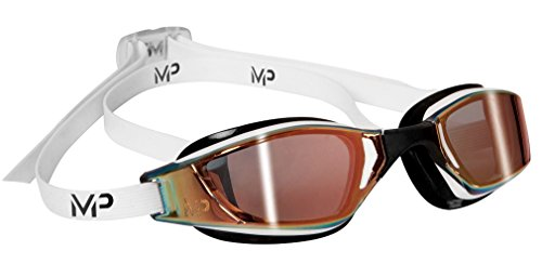 MP Michael Phelps Aquasphere XCEED Titanium Mirror Wettkampfbrille Schwimmbrille