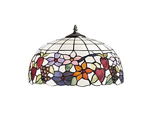 Lampenschirm Tiffany mit Blumen und Obst Perenz T990