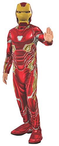 Dress Roboter Fancy Kostüm Kinder - Rubie's Offizielles Avengers Endgame Iron Man, klassisches Kinderkostüm, Größe S, Alter 3-4, Höhe 117 cm
