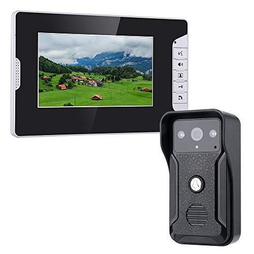 ngel Freisprechen Silent Indoor Intercom Kit HD Infrarot Nachtsicht Wasserdichte Kamera Wandmontage Home Security Überwachung Außerhalb der Tür Farbdisplay Elektroschloss Steuerung ()