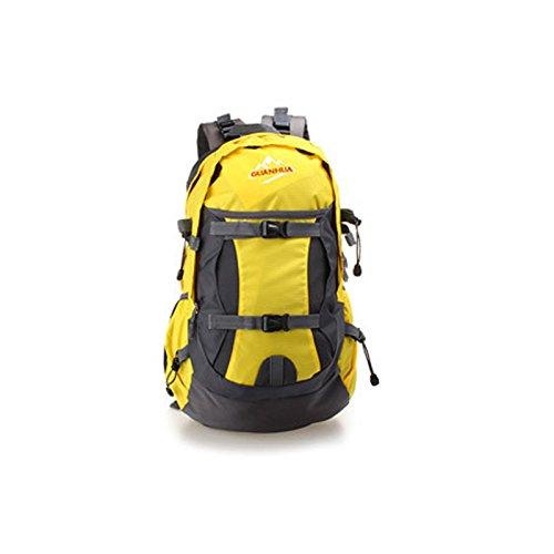 2016neu wasserdicht Outdoor Wandern Reiten Sport Rucksack Bergsteigen Camping Rucksack Outdoor Sport Tasche Gelb