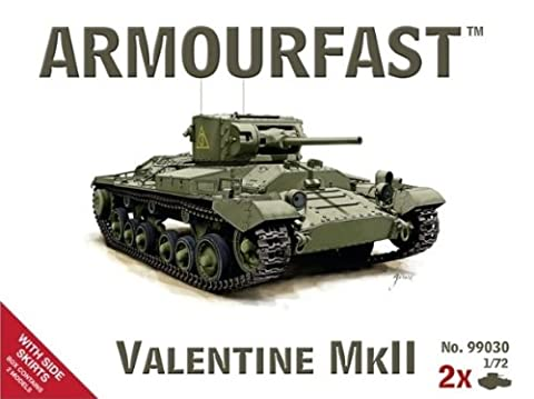 Armourfast Valentine Mk II Tank with Side Skirts (Set of 2) (1/72 Scale)