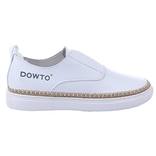 Mob Outfit (aijiaer Damen Damen Schlupfschuhe flach Casual Comfort Büro Arbeit Schule Quaste Classic Pumpen Schuhe, Weiß - weiß - Größe:)
