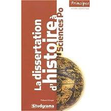 Dissertation d'histoire à Sciences Po