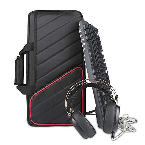 YUSDP Tastatur-Controller-Rucksack, Klaviertasche, verstellbare tragbare Riemen, Nylon, wasserdicht, großes Raum-Design, weiche atmungsaktive Seitentasche, 50,8 cm
