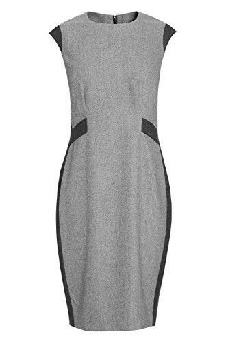 next Femme Robe en laine motif chevrons Gris