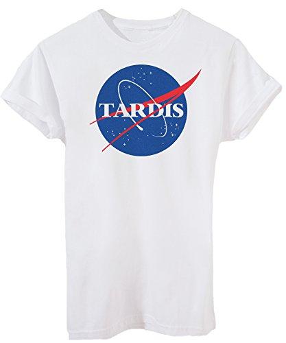 T-Shirt Doctor Who Tardis - Fernsehserie - iMage - Herren-XXL -Weiß