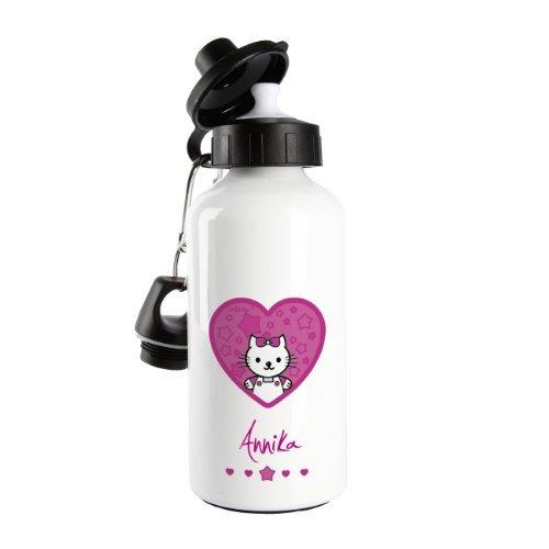 Striefchen® Trinkflasche Motiv - Kätzchen - mit Name: Annika