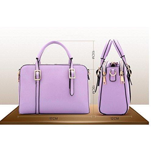 Dame Mode Farbe Umhängetasche Handtasche Kuriertasche Persönlichkeit Elegant PU-Leder RoseRed