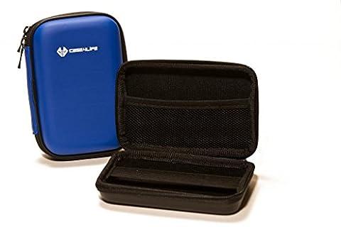 """Case4Life Bleu 2,5"""" rigide housse Étui disque dur externe pour Maxtor STSHX-M101TCBM, Maxtor STSHX-M201TCBM - Garantie à vie"""