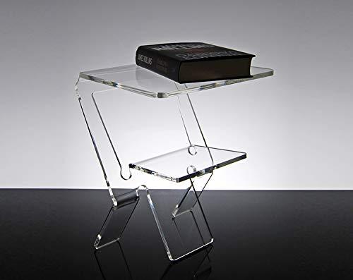 Slato Nachttisch, modern, Plexiglas, Transparent Eniro (Acryl-nachttisch)