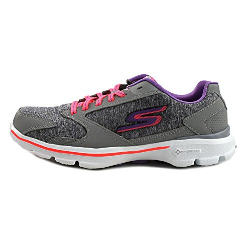 Skechers Go Walk 3-Statement Maschenweite Wanderschuh Gray/Hot pink