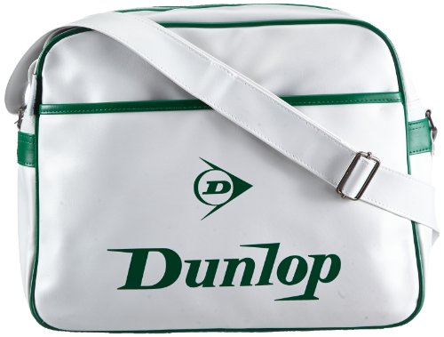 Dunlop Unisex - Adult Classic Manchester Shoulder Bag White Weiß (white/green) Size: 40x30x12 cm (B x H x T)