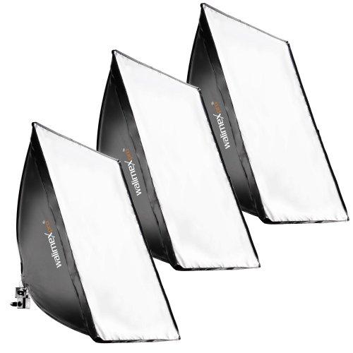 Walimex Daylight Set mit Lampe (3x250 Watt) und Softbox (40x60 cm)