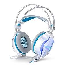 7.1 USB Surround Sound Gaming Headset für Xbox One, PS4, PC Noise Cancelling Mic, eingebauter 7.1 Virtual Surround Sound Engine und Vibrator System