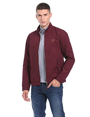 Pretty Green Kingsway Harrington - Blouson - Manches Longues - Homme Rouge (Burgundy)