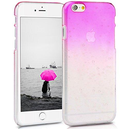 iPhone 6 6S (4,7 Zoll) dünne Hard-Case Hülle | Cover | Schutzhülle | Backcover | in matt Design | Weiss für iPhone6 iPhone6S | - Naruba Media (Hard Case Weiss) Regen Hardcase Rosa
