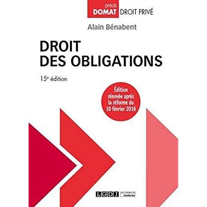 Droit des obligations, 15ème Ed.