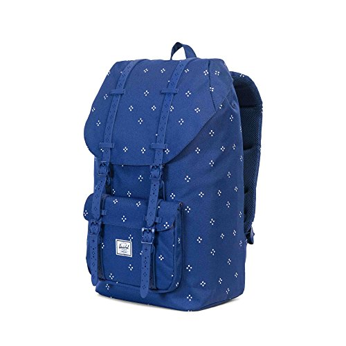 Herschel Supply Co. Rucksack Little America, Raven Crosshatch/Black Rubber (grau) - 10014-01132-OS Focus/Twilight Blue Rubber