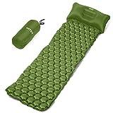 INTEY Isomatte Camping, Ultraleichte Schlafmatte Luftmatratzen für Outdoor, Wasserdichte Aufblasbare Pad für Camping, Reise, Strand und Abenteuer Größe 190 x 58 cm(Grün)
