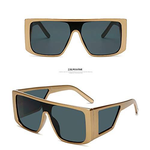ZRTYJ Sonnenbrillen Oversized Shield Sonnenbrille Für Männer Quadratisch Großen Rahmen Sonnenbrille Frauen Winddicht Cool Black Eyewear