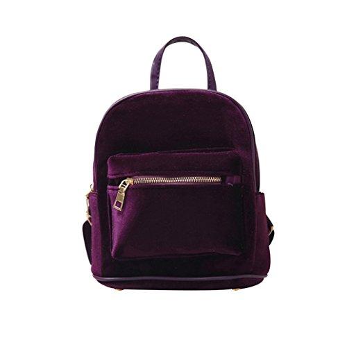 Yosemite , Damen Rucksackhandtasche weinrot Einheitsgröße violett