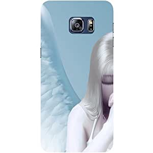 Casotec Angel Girl Wings Design Hard Back Case Cover for Samsung Galaxy S6 edge Plus