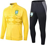 PARTAS Jacket Full Sleeve Brazil Training Suit 2 Pieces Sets Tracksuits Football Wear Club Team Uniform Brazil