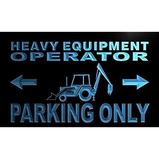 AdvPro Sign ADV PRO m361-b Heavy Equipment Operator Parking Only Neon Light