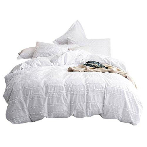 Umi. Essentials Bettbezugsset mit einem Kissenbezug aus reiner Baumwolle, in Schneiden Str