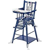 Chaise Haute Marcel Transformable Laqu Bleu