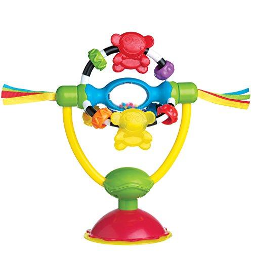 Playgro 0182212 2in1 Hochstuhlspielzeug Affenschaukel, mehrfarbig