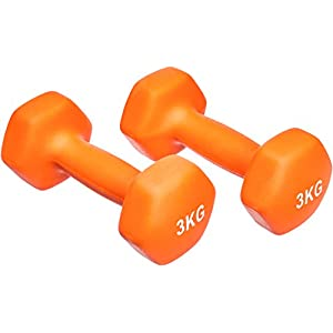 AmazonBasics Neopren Hanteln Gewichte (2er-Sets, 1kg – 5kg Hanteln)