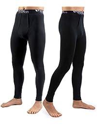 Sesto Senso Lot de 2 Pantalons Coton Thermiques Homme sous-Vêtements  Thermique Bas Caleçon Longs 3a19d8dd321
