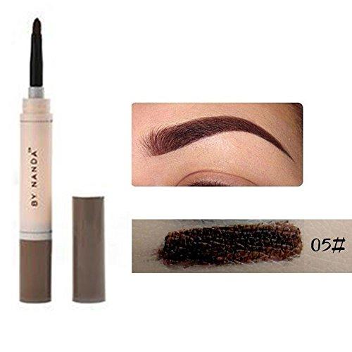 Henna Augenbrauenfarben-Set, langlebig, wasserfest, Stift mit cremiger Textur Braunrot