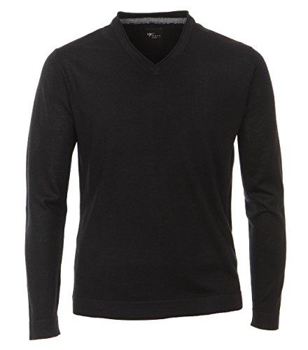Venti - Slim Fit - Herren Pullover aus Merinowolle mit V-Ausschnitt in verschiedenen Farben (162504600) Schwarz (80)
