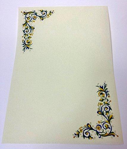 N° 5 pergamena a4 stampabile diploma carta decorata avorio cartoncino marmor 5