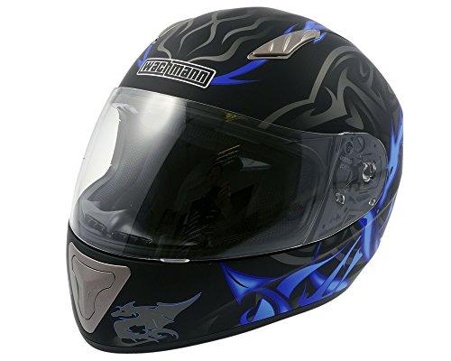 WACHMANN WA-10 ViriFortis blau/schwarz matt Integralhelm, Rollerhelm, Motorradhelm [Größe XL]