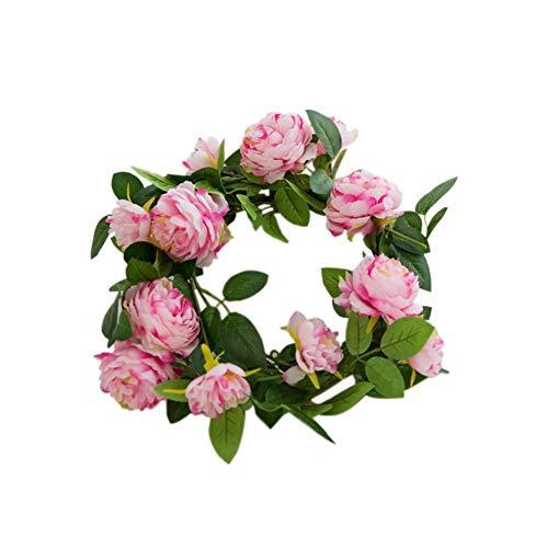 gaeruite künstliche Rosen-Blumen-Girlande, Partei-Blumen-Kranz Emulational Blumen-Kranz, Weiche Rebe Efeu-Blumen-Girlande für Geburtstag-Hochzeitsfest-Dekorationen